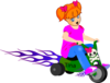 Little Girl On Bike Clip Art