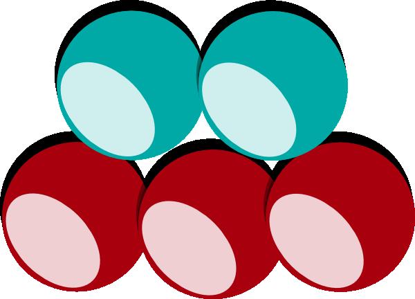 5 Balls 2 Colors Clip Art at Clker.com - vector clip art online ...