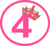 Pink Tilted Tiara And 4 New Clip Art