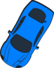 Blue Car - Top View - 240 Clip Art