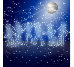 Disco Dancing Night Clip Art