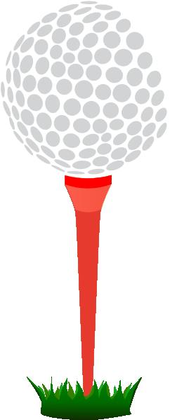 red golf tee clip art at clker com vector clip art online royalty rh clker com golf tee box clip art Golf Logos Clip Art