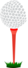 Red Golf Tee Clip Art