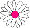 Hot Pink Center Daisy Clip Art