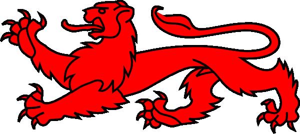 lions passant clip art at clkercom vector clip art