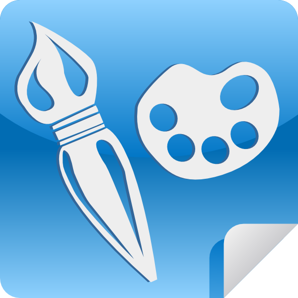 paint application icon clip art at vector clip