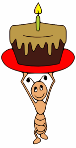 Ant Carrying A Cake Clip Art