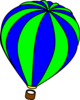 Hot Air Balloon Green Clip Art