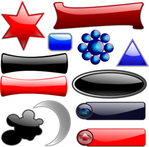 Glossy Glassy Collection Clip Art