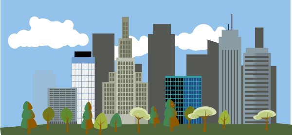 city skyline cartoon. City-skyline