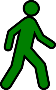 Walking Man Yellow Clip Art