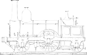 Train Engine White Clip Art