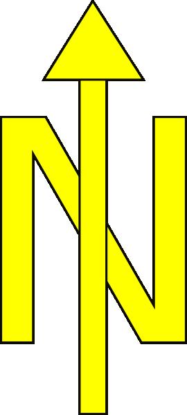 North Arrow Black Border Clip Art at Clker.com - vector ...
