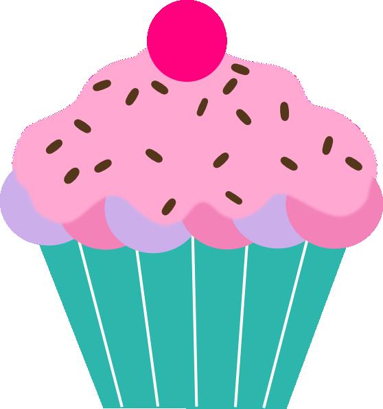 pink cupcake clip art at clker com vector clip art online royalty rh clker com