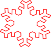 Red Snowflake Outline Clip Art