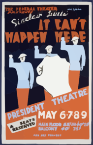 The Federal Theater Div. Of W.p.a. Presents  It Can T Happen Here  [by] Sinclair Lewis Clip Art