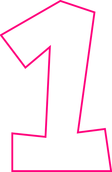 Number One Pink Clip Art at Clker.com - vector clip art ...