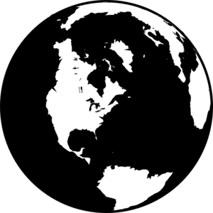 Black And White Globe Clip ArtWorld Clipart Black And White