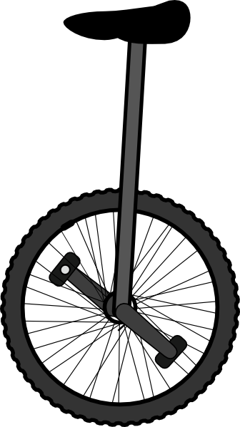 Unicycle Clip Art at Clker.com - vector clip art online, royalty free ...