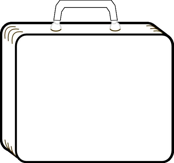 Colorless Suitcase Clip Art at Clker.com - vector clip art ...