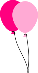 Two Pink Balloons Clip Art At Clker Com Vector Clip Art