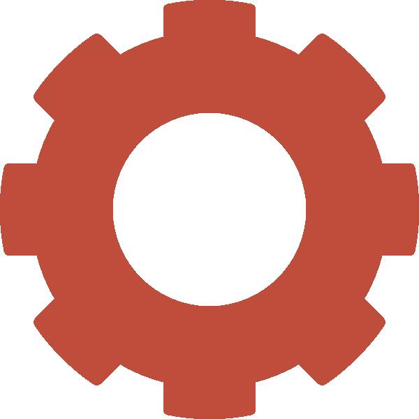 Red Gear Clip Art at Clker.com - vector clip art online ...