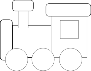 Black And White Train Clip Art