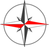 Red Gray Compass 5 Clip Art