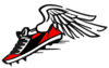 Red Winged Shoe Clip Art