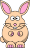 Cartoon Bunny Beige Clip Art