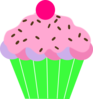 Cupcake Green Wrapper Clip Art