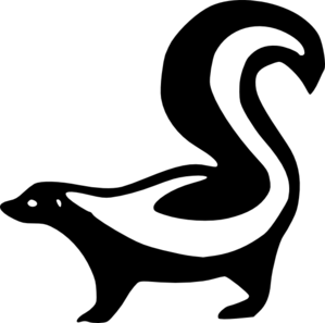 Skunk Silhouette Clip Art at Clker.com - vector clip art online ...