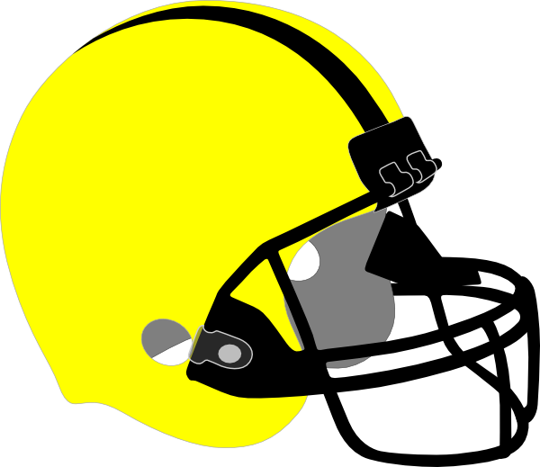 Yellow Football Helmet Clip Art at Clker.com - vector clip ...