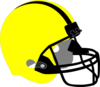 Yellow Football Helmet Clip Art
