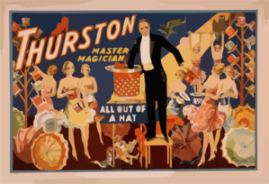 Thurston, Master Magician All Out Of A Hat. Clip Art