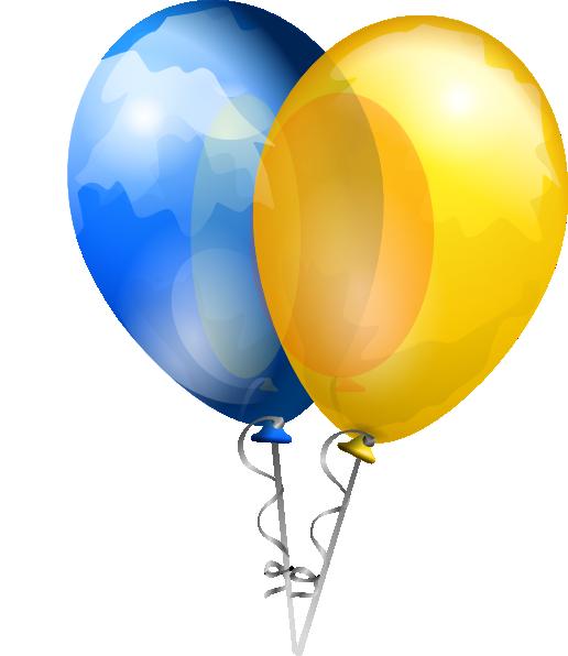 clipart yellow balloons - photo #49