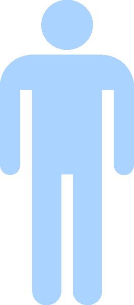 Light Blue Man Silhouette Clip Art At Clker Com Vector