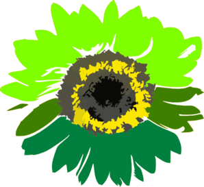 Green Sunflower Clip Art