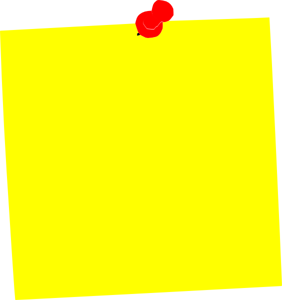 Clip Art Post It Clipart yellow post it clip art at clker com vector online download this image as