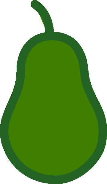 Green Pear Outline Clip Art at - 15.4KB
