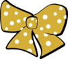 Gold Cheer Bow Clip Art