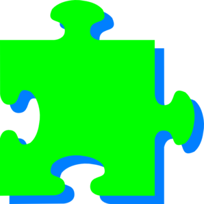 Green N Blue Puzzle Clip Art