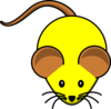 Yellow Mouse W/ Brown Ears Clip Art