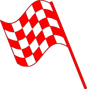 Checked Flag Red Clip Art