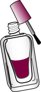 Nail Polish - Wine Clip Art