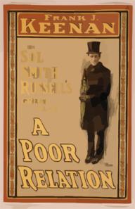 Frank J. Keenan In Sol Smith Russell S Great Play, A Poor Relation Clip Art