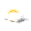 Partly Sunny Weather Icon Clip Art