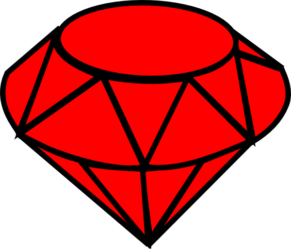 Ruby Simple Clip Art at Clker.com - vector clip art online, royalty ...