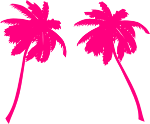pink palm trees clip art at clker com vector clip art online rh clker com clipart palm trees clip art palm trees with christmas lights