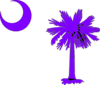 Purple South Carolina Clip Art